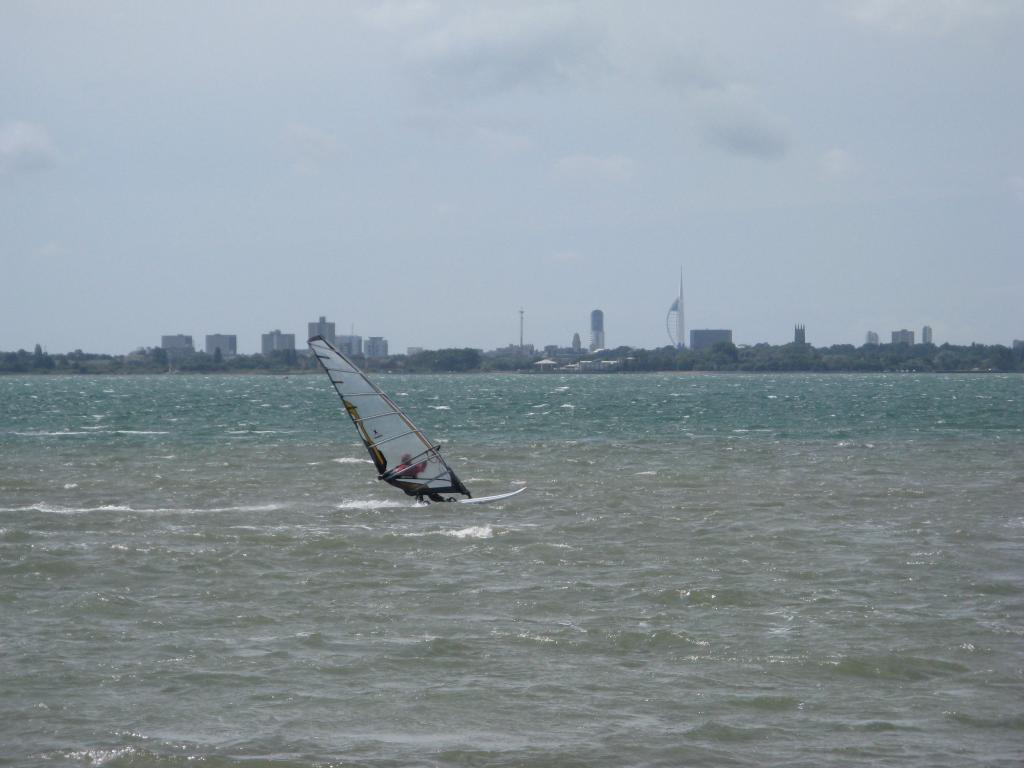 Windsurfer in Langstone Harbour