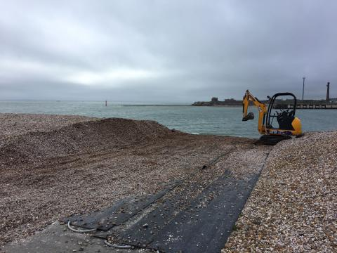 Clearing the slipway